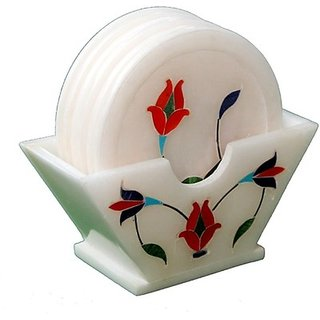 Lord Krishna Fashion Marble Inlay Work Tea Coaster