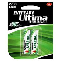 Eveready Ultima Rechargeable Nimh 2700 Mah Batteries For Camera 2pcs