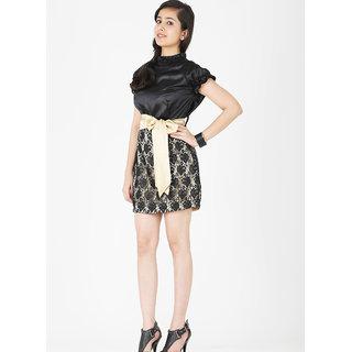 schwof golden belt dress in india shopclues