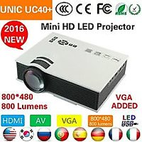 UNIC UC40+ Full HD 1080P 3D Projector HDMI Home Theater Beamer Multime