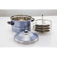 Mahavir16Pc  Idly Cooker - Induction Base - Metallic Blue (4PLIDBL)