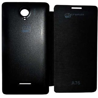 Flip Cover For Micromax A76 Black Color available at ShopClues for Rs.120