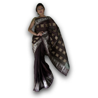 Bengal Handloom saree( Tant)- Code SC7 (Brown)