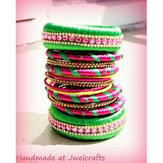 Beautifully Handcrafted Silk Thread Bangles