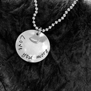 Valentines Day Gift- Love You More Necklace- Stainless Steel Jewellery-UNISEX