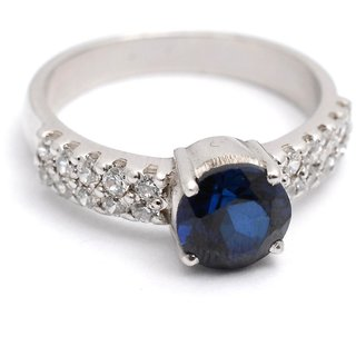 Cara BlueStone And Studs Silver Ring For Women