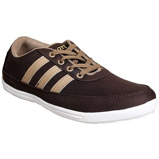 Sukun Mens Brown Lace-up Casual Shoes