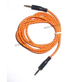 COMBO 2 COLOUR Good Quality - 3.5mm AUX Cable Male to Male, For Car Stereo, Thread Made, 1.5M