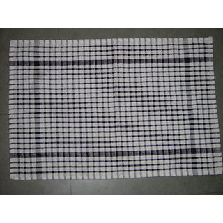 Akash Ganga Cotton BlackWhite Kitchen Towel (Set of 5)