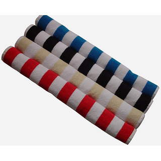 Akash Ganga Cotton Multi-Coloured Hand Towel (4 Pieces)