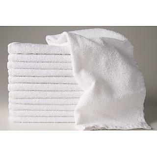 Akash Ganga White Super Soft Face Towel (5 Pieces)