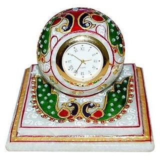 jaipurikala Marble DecorativeTable Clock