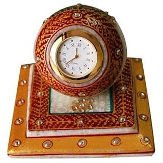 jaipurikala Marble Table Clock