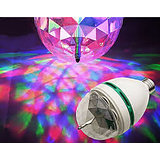 LED Mini Party Lamp 360 degrees rotating disco effect light crystal bulb