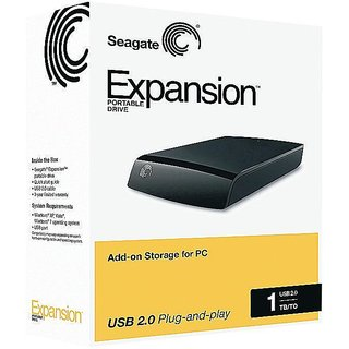 Seagate Expansion USB 3.0 1 TB External Hard Disk Image
