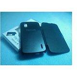LG NEXUS 4 LG Google Nexus 4 E960 Black Leather Flip Hard Folio Cover Case Megnet Clsr