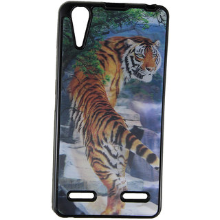 Fcs Rubberised Hard Back 3D Case For Lenovo A6000 In Matte Finish-Design 1 FCS3D-LENOVO-A6000-1