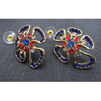 Colorful amiba earring