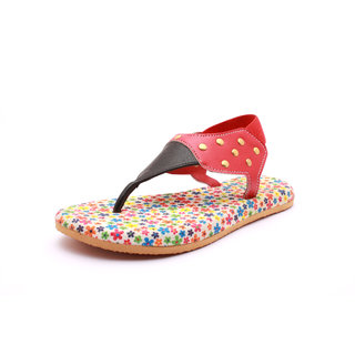 Flat Red Fashion Girls Sandal