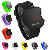 COMBO PACK OF THREE COLOUR FULL  APPLE SHAPE  LED DIGITAL  WATCH  FOR  KIDS /BOY