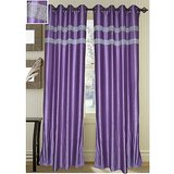 Beautiful Purple Designer Curtain -set Of 2(4X7FT)