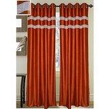 Beautiful Brown Designer Curtain -set Of 2(4x7ft)