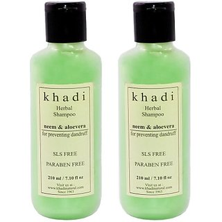 Khadi Neem and Aloe Vera SLS and Parabens Free Shampoo (Twin Pack)