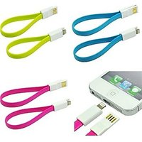 23 Cm Flat Noodle Design USB Charging Cable For IPhone 5/5S/5C