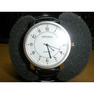 Optima Round White Dial Watch MRP Rs.599/