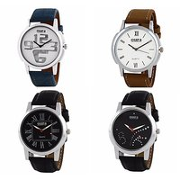 Oura Analog Round Dial Casual Wear Watch For Men Pack Of 4pc