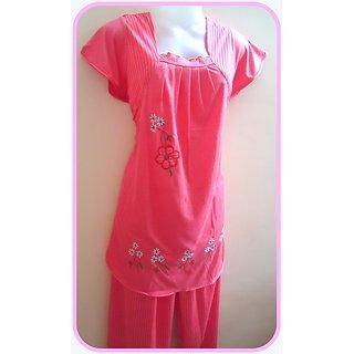 Sleepwear Girls Night Suit In Soft Hosiery-Large
