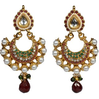 36 Jewels Multicolor Dangler Drop Earring For Women Gift (Design 9)