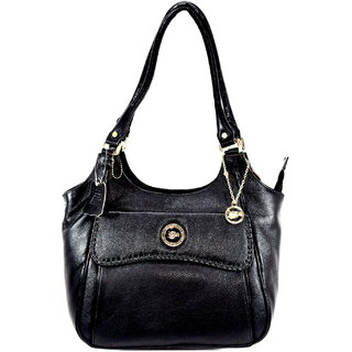 Moochies Black Genuine Leather Purse