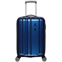 F Gear Kick off Polycarbonate 66 (cm) Blue 4 Wheels Suitcase  Trolley