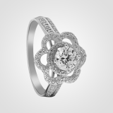 Stunning Solitaire Sterling Silver Flower Ring 3sw15915a2