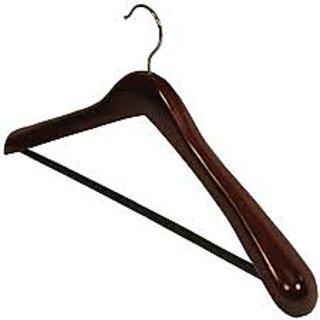 Home Basics 8 pcs Wooden Hangers FOR COATS, SUITS, JACKETS  BROAD SHOULDER