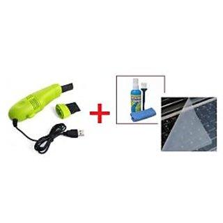 Vacuum Cleaner USB For Laptop  + Laptop Keyboard Skin Screen Cleaning Kit