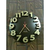 Magpie Designer Wall Clock   Designed In Germany Limited Period Offer Brown 3D Wall Clock Call 8285858517 For Bulk /corporate Orders