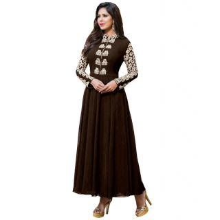Bhavna creations brown dress with beautiful thread work