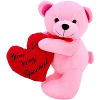 DealBindaas Heart Carry Bear Valentine Stuff Teddy 30 Cms Assorted