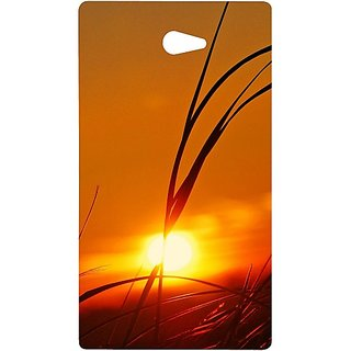 Casotec Moon View Design Hard Back Case Cover for Sony Xperia M2