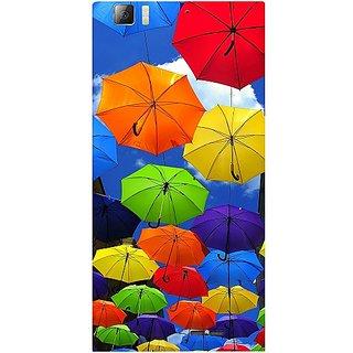 Casotec Colorful Umbrellas Design Hard Back Case Cover for Lenovo K900