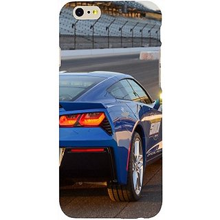 Casotec Car on Racing Track Design Hard Back Case Cover for Apple iPhone 6 / 6S