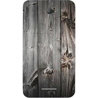 Casotec Wooden Texture Design Hard Back Case Cover for Sony Xperia E4