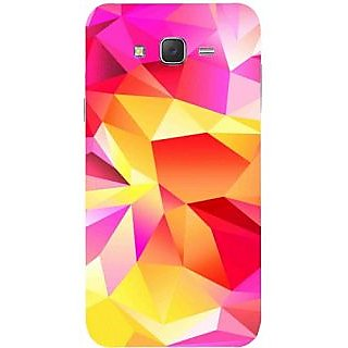 Casotec Pink Yellow Pattern Print Design Hard Back Case Cover for Samsung Galaxy J7