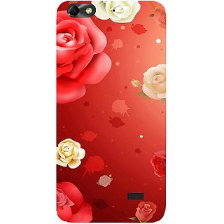 Casotec Red Rose Design Hard Back Case Cover for Huawei Honor 4C
