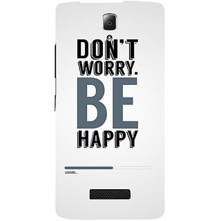 Casotec Dont Worry Be Happy Design Hard Back Case Cover for Lenovo A2010