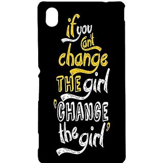 Casotec Changing Girl Design Hard Back Case Cover for Sony Xperia M4 Aqua