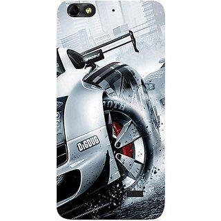 Casotec Drift Sport Print Design Hard Back Case Cover For Huawei Honor 4C