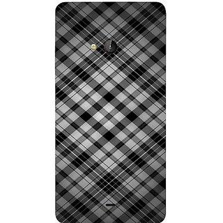 Casotec Black Stripes Pattern Print Design Hard Back Case Cover for Microsoft Lumia 540